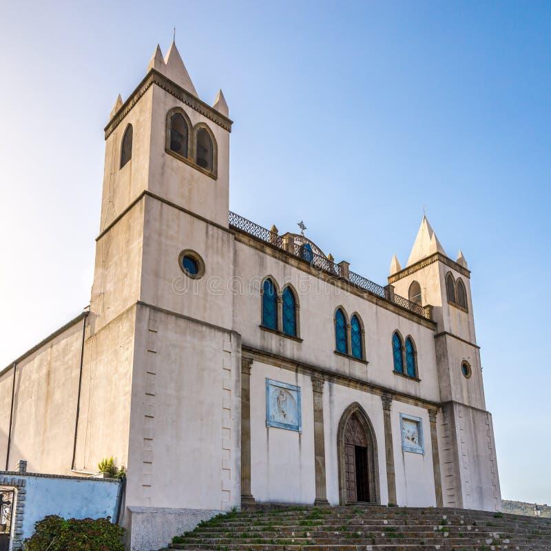 大教堂圣玛丽亚della尼夫在撒丁岛库列里 库存照片