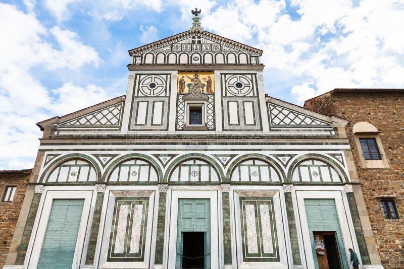 大教堂圣米尼亚托Al Monte门面  库存照片