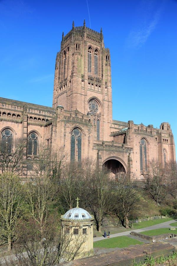大教堂在利物浦 免版税库存照片