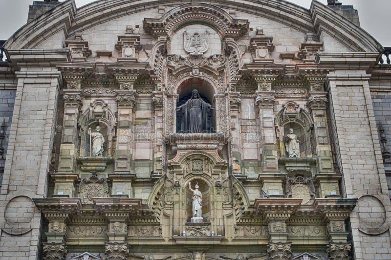 大教堂在利马 库存图片