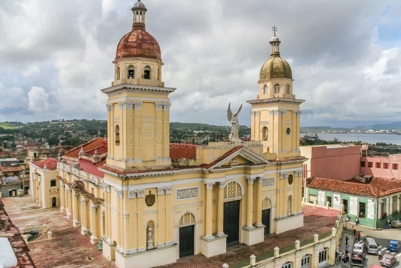大教堂在圣地亚哥的中心 库存照片