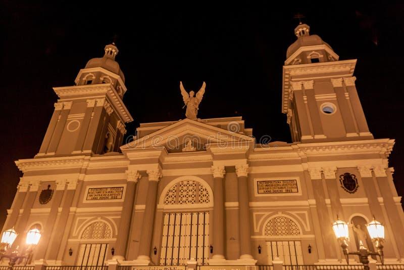 大教堂在圣地亚哥-德古巴,古芝 库存图片