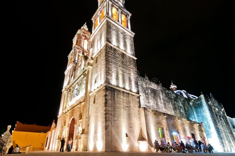 大教堂在坎比其,墨西哥 库存照片
