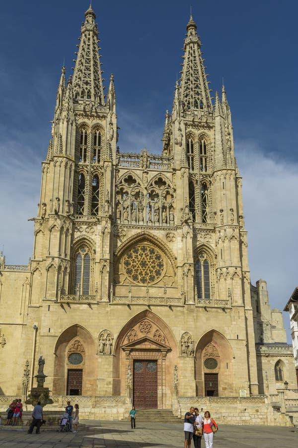 大教堂在布尔戈斯,西班牙 库存照片