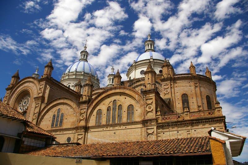 大教堂在昆卡省,厄瓜多尔 免版税库存照片