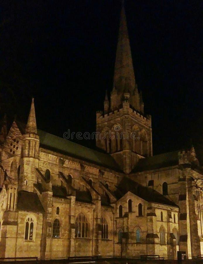 大教堂在晚上 免版税库存照片