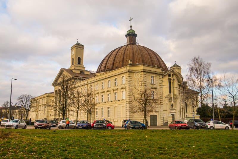 大教堂在比得哥什,波兰 免版税库存图片