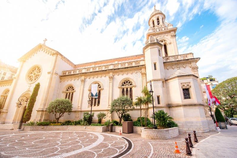 大教堂在蒙地卡罗 免版税库存图片