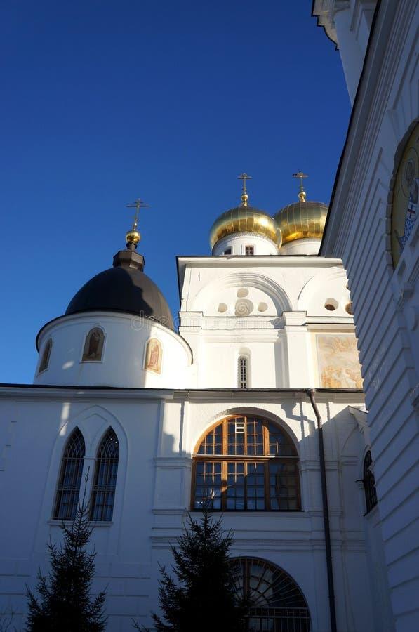大教堂在镇堡垒在Dmitrov 库存图片