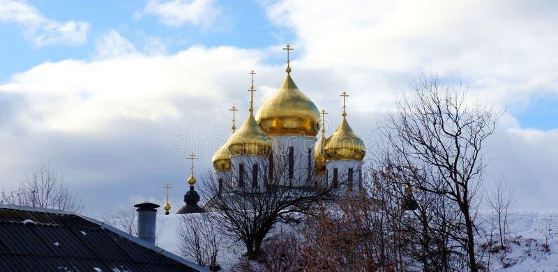 大教堂在镇堡垒在Dmitrov 免版税库存图片