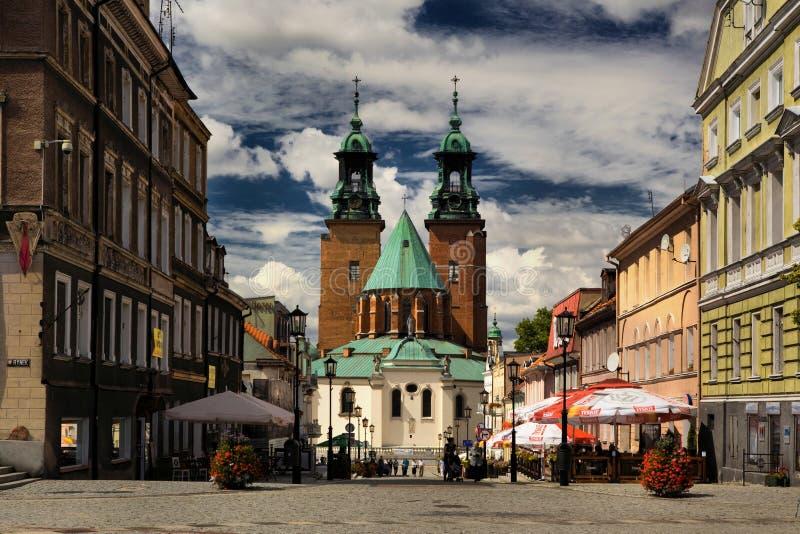 大教堂在Gniezno 免版税库存照片