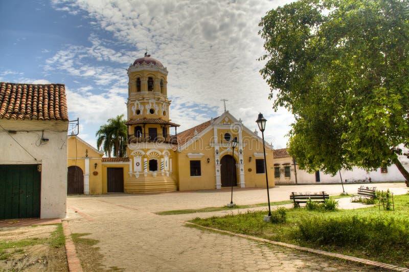 大教堂在Mompox 图库摄影
