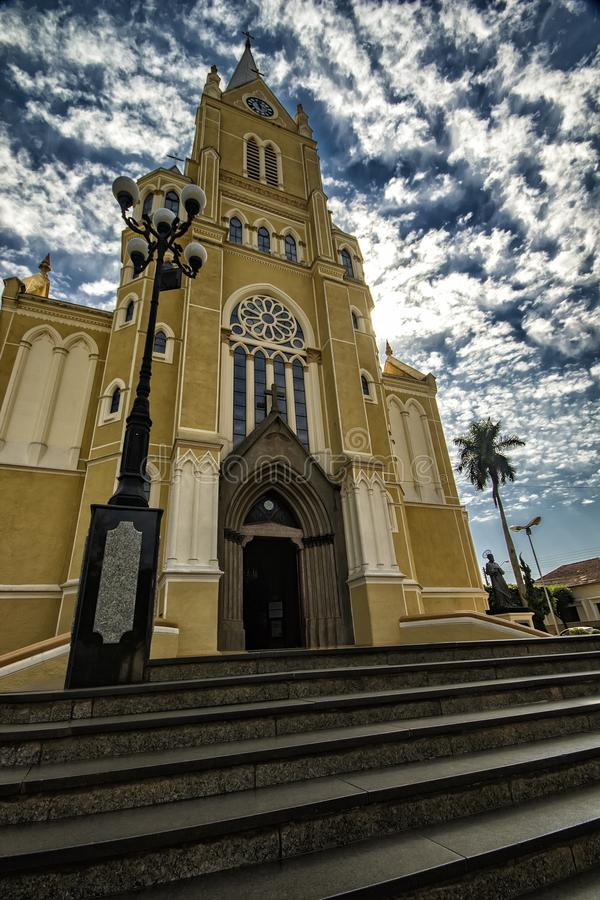 大教堂城市圣丽塔做Passa Quatro, São保罗,巴西-教会城市圣丽塔做Passa Quatro, São保罗,巴西 免版税库存照片