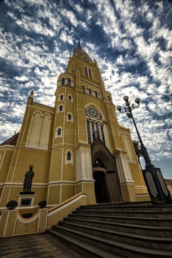 大教堂城市圣丽塔做Passa Quatro, São保罗,巴西-教会城市圣丽塔做Passa Quatro, São保罗,巴西 库存图片