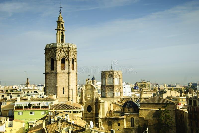 大教堂城市巴伦西亚 免版税库存图片