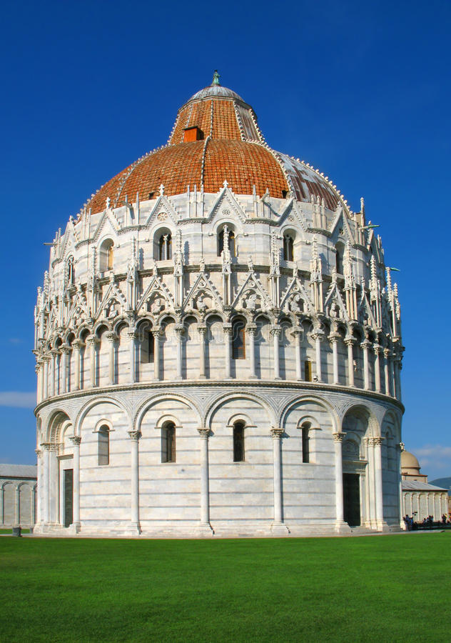 大教堂城市意大利语比萨 免版税库存照片