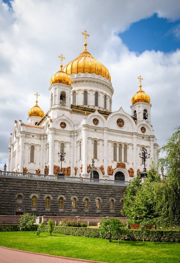大教堂基督・莫斯科晚上俄国救主场面 库存图片