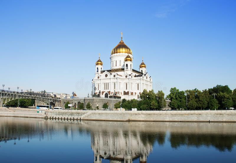大教堂基督救主 Moskva河 莫斯科俄国 库存照片