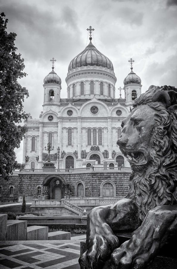 大教堂基督救主 免版税库存图片