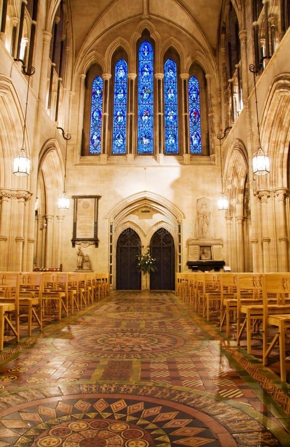大教堂基督教会都伯林内部视图 免版税图库摄影