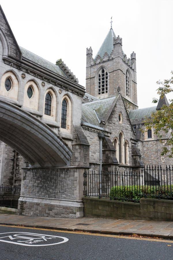 大教堂基督教会都伯林爱尔兰 免版税库存照片