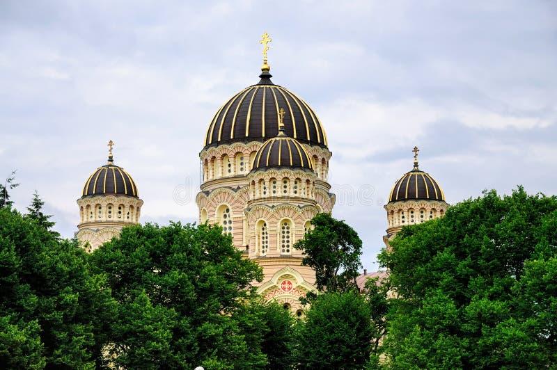 大教堂基督nativitiy里加 库存照片