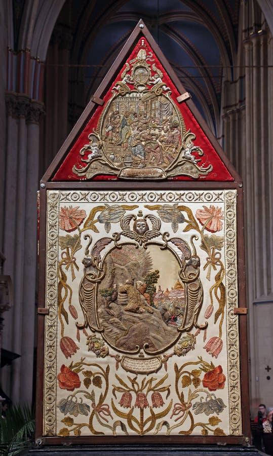 大教堂基督s坟茔萨格勒布 免版税图库摄影