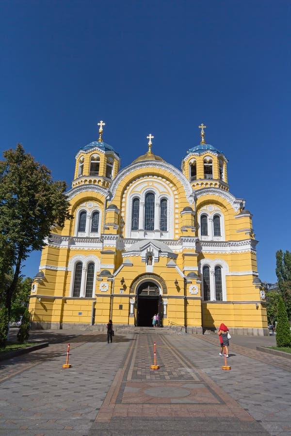大教堂基辅malorussia st乌克兰vladimir 基辅,乌克兰 免版税库存照片