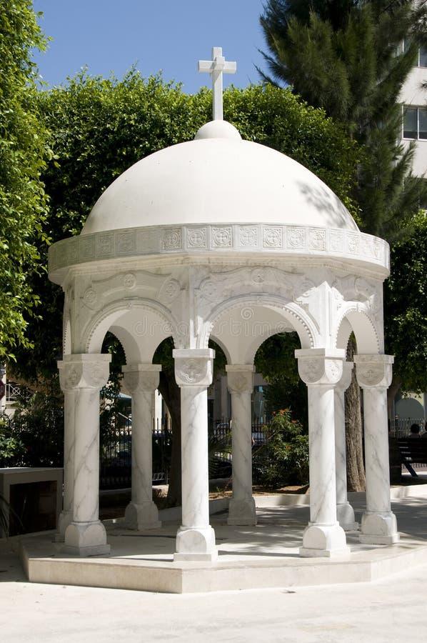 大教堂塞浦路斯正统眺望台的lemesos 库存照片