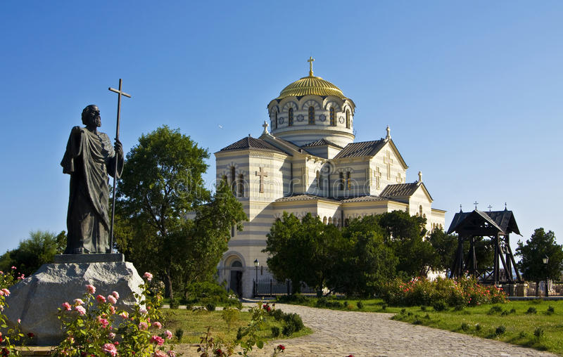 大教堂塞瓦斯托波尔st vladimir 库存图片