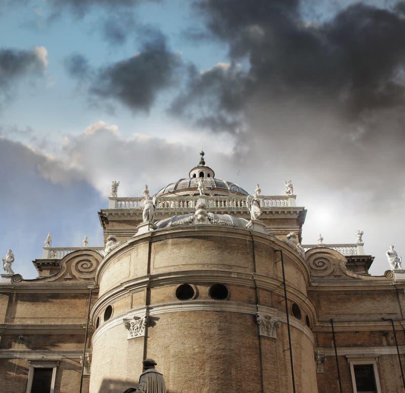 大教堂外部帕尔马 免版税图库摄影