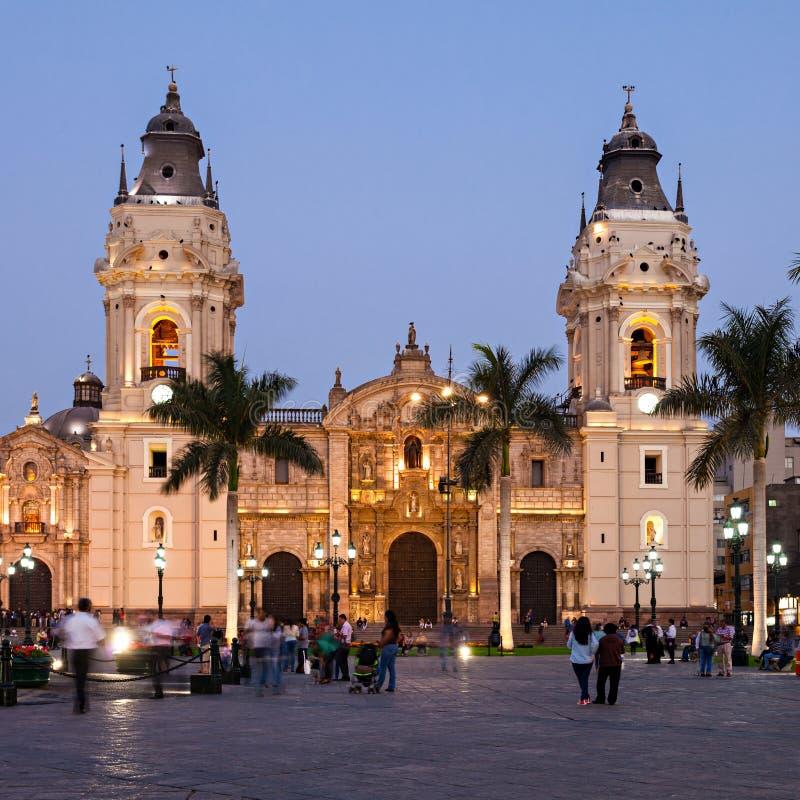 大教堂大教堂,利马 免版税库存照片