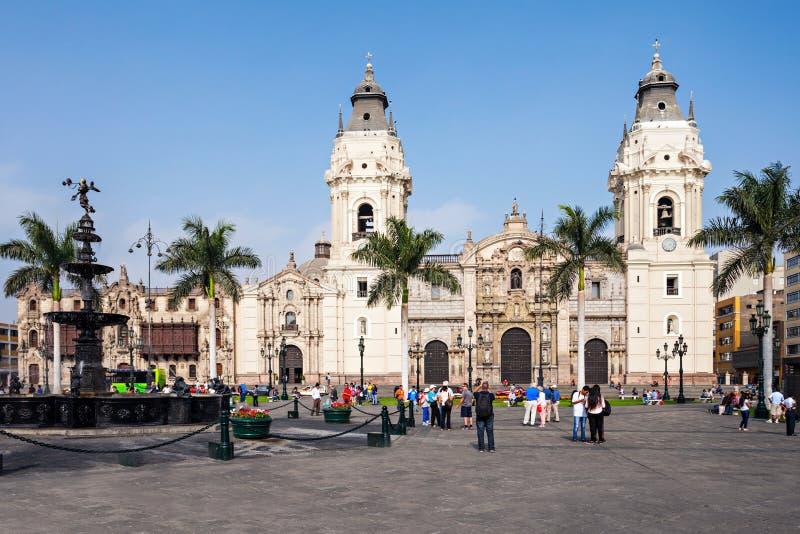 大教堂大教堂,利马 免版税库存图片