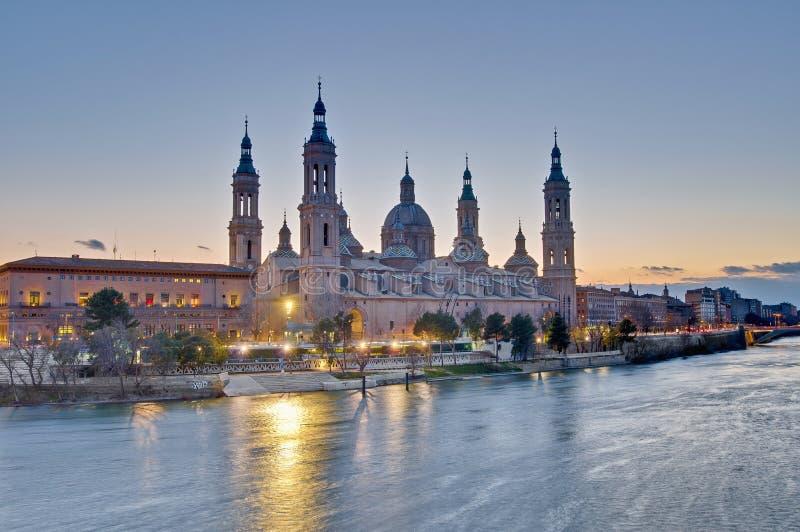 大教堂夫人我们的柱子西班牙萨瓦格萨 免版税库存图片