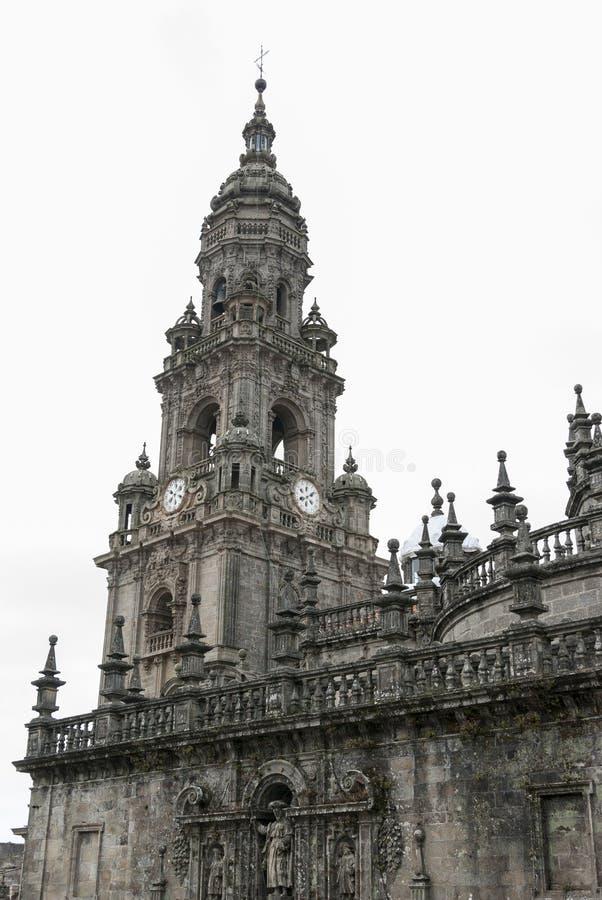 大教堂孔波斯特拉的圣地牙哥(西班牙) 免版税库存照片
