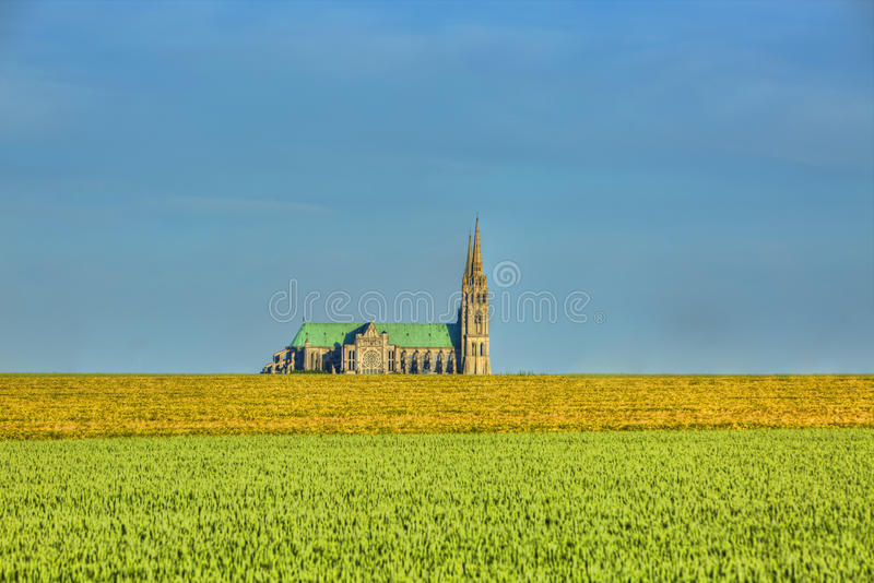 大教堂宽容沙特尔遗产夫人地标列表列出了老我们的科教文组织世界 免版税库存照片