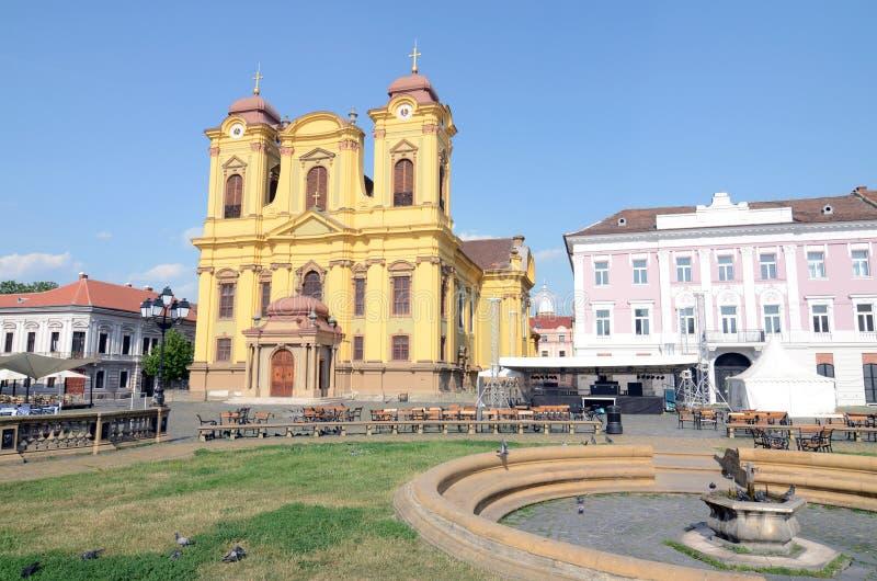 大教堂小的timisoara 免版税图库摄影