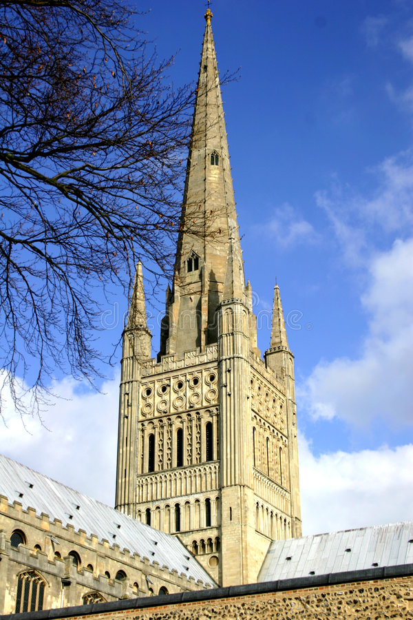 大教堂尖顶 库存图片
