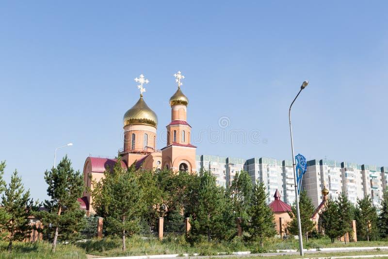 大教堂尼古拉斯st 铁米尔套,哈萨克斯坦 库存照片