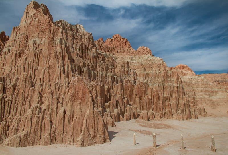 大教堂峡谷国家公园原始风景视图在内华达 库存图片