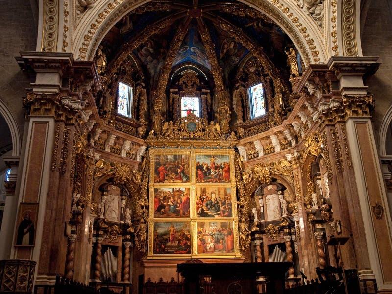 大教堂巴伦西亚 库存图片