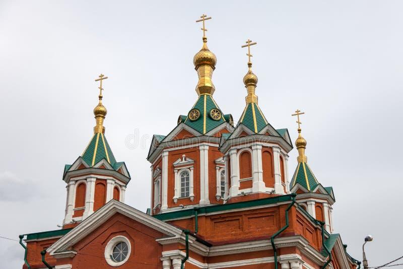大教堂广场的建筑合奏在科洛姆纳克里姆林宫 库存照片