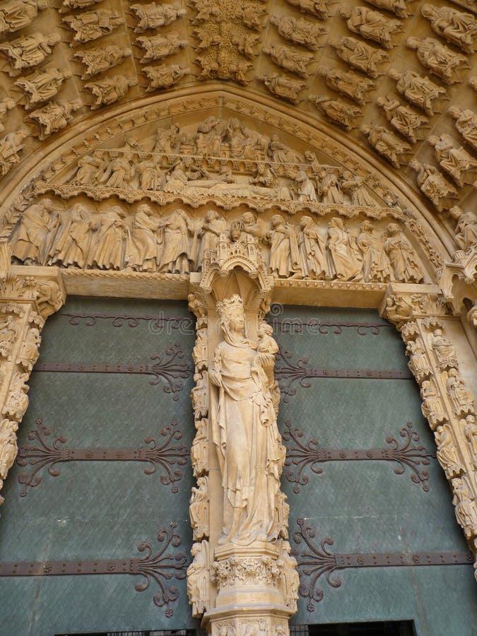大教堂建筑细节  库存图片
