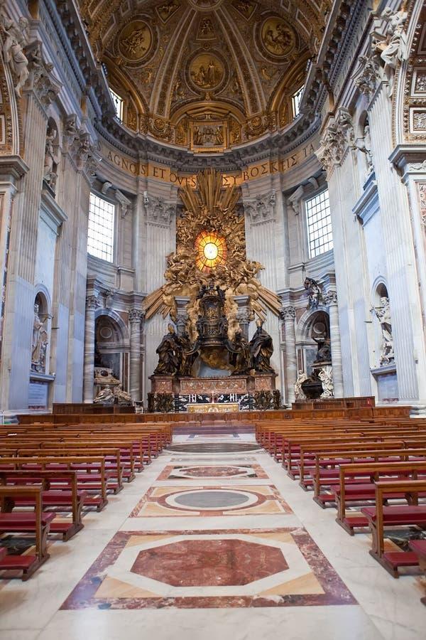 大教堂彼得s st梵蒂冈 库存照片