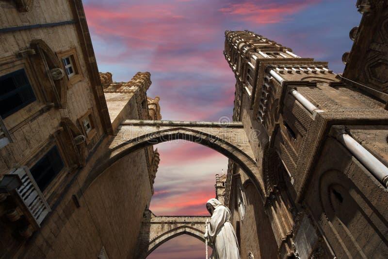 大教堂意大利巴勒莫南部的西西里岛 免版税库存照片