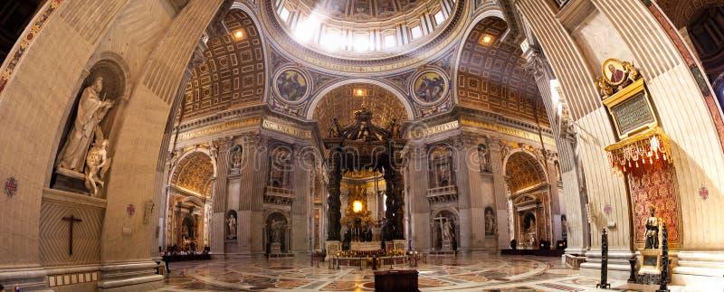 大教堂意大利彼得・罗马s st 免版税库存照片