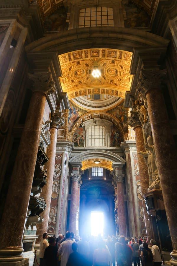 大教堂意大利彼得s st梵蒂冈 库存图片