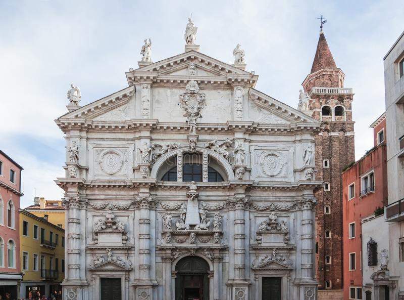 大教堂或教会di圣莫伊兹,威尼斯,意大利 库存图片