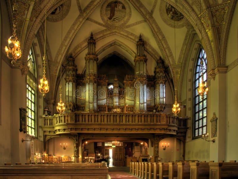 大教堂教会器官 库存照片
