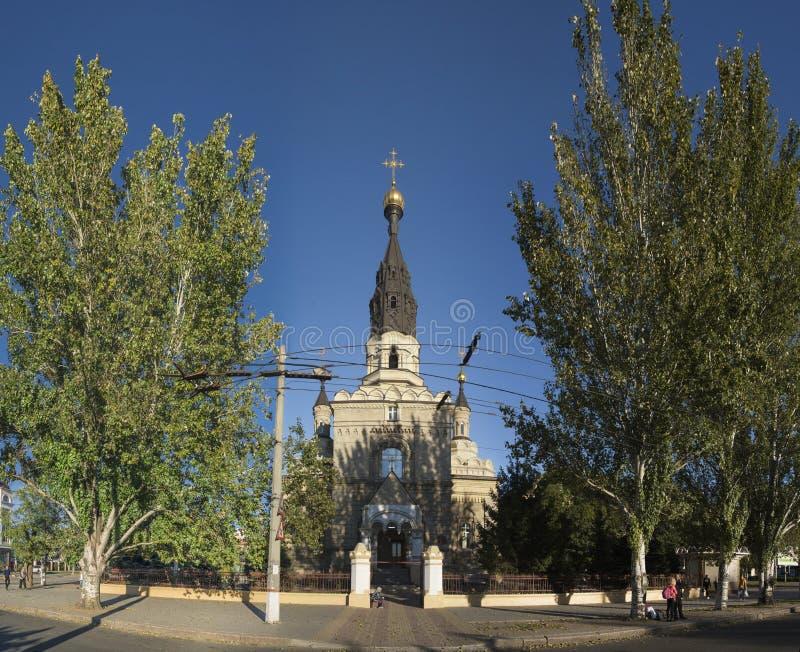 大教堂教会在尼高拉夫,乌克兰 库存照片